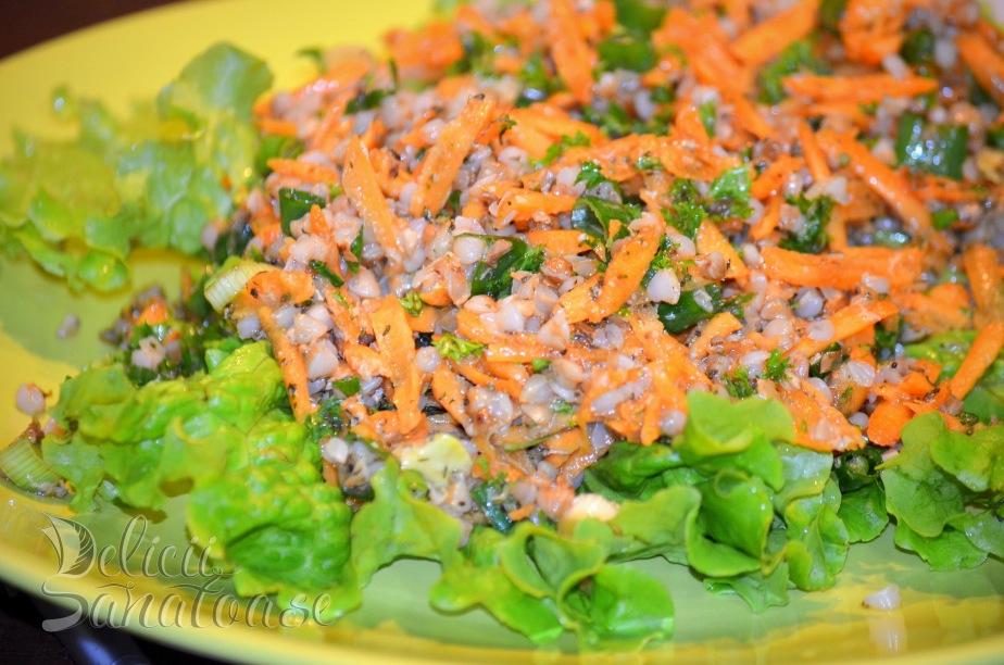 Salata de morcovi cu hrisca - Delicii Sanatoase