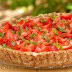 Tartă cu căpșune și cremă de busuioc - 01 - Delicii Sanatoase