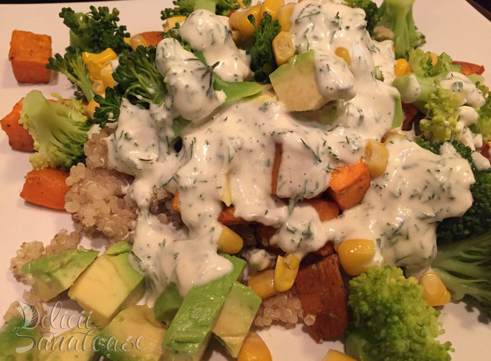 Quinoa cu cartofi dulci - Delicii Sanatoase